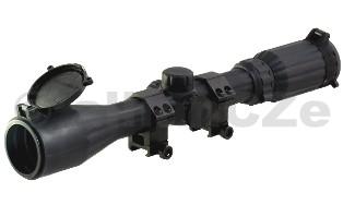 PUŠKOHLED LEAPERS/UTG 25 3-9x40 Full Size AO Optika UTG 3-9X40 F.S. Rubber Armored Mil-dot RGB Scope w/ Picatinny/Weaver Ringsodkaz na výrobce-délka tubusu:33