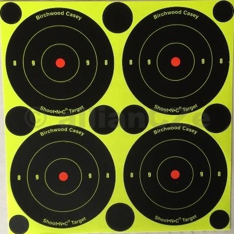 Terč - Shoot•N•C® Self-Adhesive Targets - 1ks Shoot•N•C® Self-Adhesive Targetsnalepovací terčebarvící4 ksterčů 7