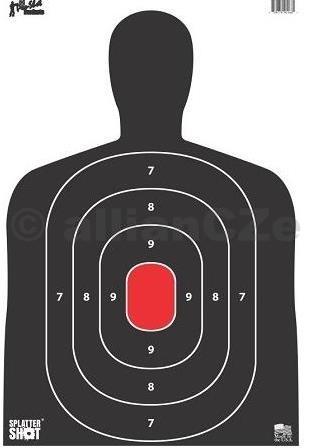 Terč - Pro-Shot Products Silhouette Target BC27 / 8 ks - bílý - 30x45cm Pro-Shot Products