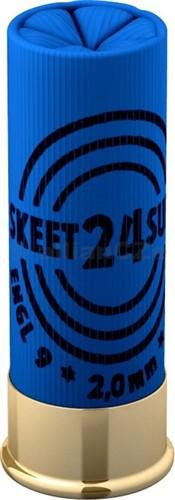 12x70 SKEET 24 SUPER S&B 2.0mm (25 ks) sportovní brokové náboje S&B ráže 12x70
