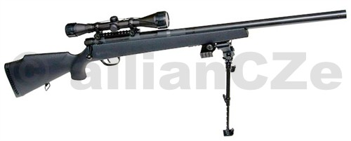 """puška SNIPER UHC SUPER 9 X SWAT airsoftová manuální puška SNIPER UHC SUPER 9 X SWATZákladní vlastnosti:- airsoft zbraň v měřítku 1:1- dlouhá přesná hlaveň- mechanismus s převahou kovových dílů- kovové ovládací prvky- vysoký výkon- natahování napínací pákou shodně s originálem- realistická pojistka- zásobník (rotační) reálného vzhledu a nabíjení s imitací vyhazování patron- praktický trubičkový zásobník pro venkovní a """"bojovou"""" střelbu- realistický povrch rámu zbraně"""