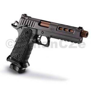 """Pistole STI DVC TACTICAL DS TR 5"""" 9mm Luger """"2011""""   STI DVC TACTICAL TR 5"""" 9mm Luger  samonabíjecí pistole STI s douřadým zásobníkem (DS)v reprezentativním provedení a v ráži 9mm Luger / 9x19  - dvouřadý precizní stroj v pětipalcovém provedení nejen na IPSC.Baleno v přenosném pouzdře STI se dvěma zásobníky.BBL- 5.00 inch Threaded Bull Barrel"""
