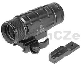 Zvětšovací monokulár UTG 3X Magnifier w/ Max Strength UTG 3X Magnifier w/ Max Strength QD Picatinny Mount and Med Profile Riser Adaptor  Item No.: SCP-MF3WQ  Přídavný monokulár pro 3x větší krystalicky čistý obraz