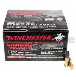 22 LR Winchester 45gr RN SV - 235 rounds kompletní náboje .22 Long Rifle Winchester SV RNLow noise/Standard Velocity 45gr ITEM: S22LRTSVE235 ks v baleníProdej na ZP !