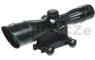 PUŠKOHLED ACCUSHOT® 3X40 Reticle Intensified Tactical CQB Scope 3X40 Reticle Intensified Tactical CQB ScopeLeapers/ACCUSHOT® SCP-T139 je velmi oblíbený typpuškohledus možnostímontáže na weaver/picatinnylišty ostrých i airsoftových zbraní