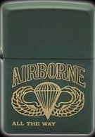 ZIPPO AIRBORNE ALL THE WAY ZIPPO AIRBORNE ALL THE WAY
