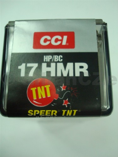 17 HMR CCI Speer TNT 17gr 17 HMR CCI Speer TNT HP/BC 17gr50 ks v baleníProdej na ZP