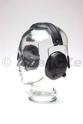 sluchátka střelecká elektronická DILLON HP1 černé DILLON HP-1 velmi kvalitní elektronické chrániče uší nejen pro střelce - nastavitelné
