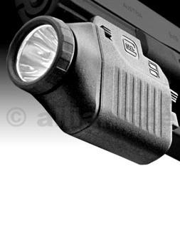 svítilna GLOCK TACTICAL LIGHT GTL11 taktická xenonová svítilna z kvalitního technického polymeru - GLOCK GTL11 - pro montáž na taktické raily pistolí - nejen pro pistole Glock (výhodou montáže na GLOCKy je snadná manipulace s pojistkou svítilny)
