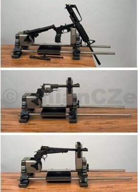 Podstavec pro čištění zbraně - Lyman Rotating Vise Lyman Revolution Rotating Gun ViseITEM: 7832250- proUPEVNĚNÍ krátkých a dlouhých zbraníve třech zajištěných pozicíchpročištění