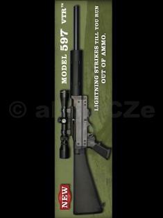 PUŠKA REMINGTON 597 VTR .22 Long Rifle Remington 597 VTR .22 Long RifleRemington 597 VTR (Varmint Target Rifle) je samonabíjecí malorážkaod renomované americké zbrojovky Remington.Konstrukční základ je společný se všemi ostatními malorážkami populárnía celosvětově velmi rozšířené řady 597