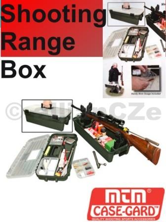 Střelecký přepravní box - Shooting Range Box MTM Oblíbený přepravní kufr pro veškeré potřeby střelce
