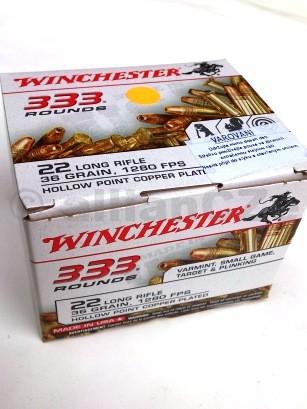 22 LR Winchester 36gr HP CP - 333 rounds kompletní náboje .22 Long Rifle Winchester HP CP 36gr -1280 FPSITEM: 22LR333HP333 ks v baleníProdej na ZP !